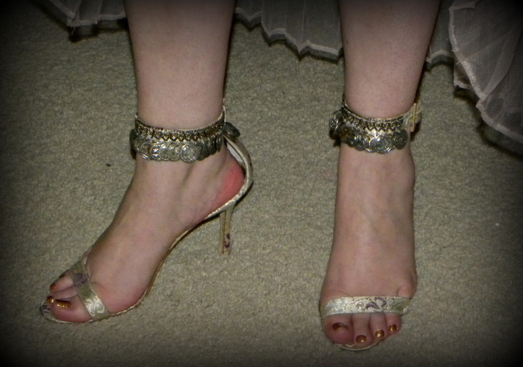 Ridiculous shoes are a must.