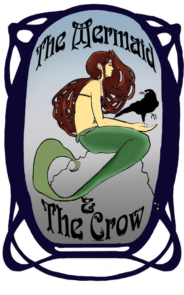 Mermaid and Crow COLOR